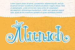 Illustrazione di vettore del logotype di Monaco di Baviera Fotografie Stock