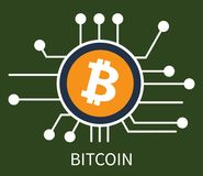Illustrazione di vettore del manifesto di Bitcoin Cryptocurrency Illustrazione Vettoriale