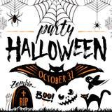 Illustrazione di vettore del manifesto di celebrazione del partito di Halloween illustrazione vettoriale