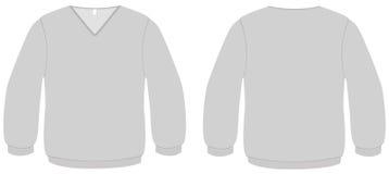 illustrazione di vettore del modello del maglione del V-collo royalty illustrazione gratis