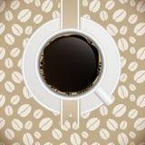 Illustrazione di vettore del modello del menu del caffè Fotografie Stock