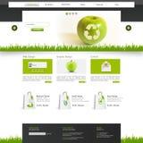 Illustrazione di vettore del modello del sito Web di Eco Fotografia Stock