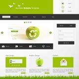 Illustrazione di vettore del modello del sito Web di Eco Fotografie Stock Libere da Diritti