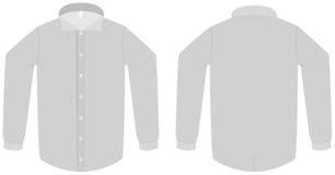 Illustrazione di vettore del modello della camicia o della camicetta di vestito Fotografia Stock Libera da Diritti