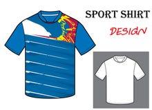 Illustrazione di vettore del modello della maglietta di calcio Fotografie Stock Libere da Diritti