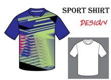 Illustrazione di vettore del modello della maglietta di calcio Fotografia Stock
