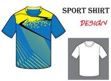 Illustrazione di vettore del modello della maglietta di calcio Fotografia Stock Libera da Diritti