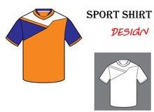 Illustrazione di vettore del modello della maglietta di calcio Immagine Stock Libera da Diritti
