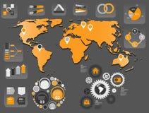 Illustrazione di vettore del modello di affari di Infographic Fotografia Stock
