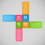 Illustrazione di vettore del modello di affari di Infographic Fotografie Stock Libere da Diritti