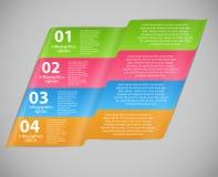 Illustrazione di vettore del modello di affari di Infographic Fotografie Stock