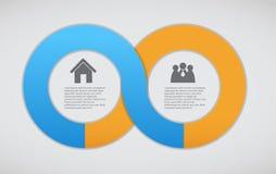 Illustrazione di vettore del modello di affari di Infographic Fotografia Stock Libera da Diritti