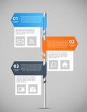 Illustrazione di vettore del modello di affari di Infographic Immagini Stock Libere da Diritti