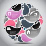 Illustrazione di vettore del modello di affari di Infographic Immagine Stock