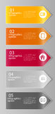 Illustrazione di vettore del modello di affari di Infographic Immagini Stock