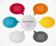 Illustrazione di vettore del modello di affari di Infographic Immagine Stock Libera da Diritti