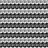 Illustrazione di vettore del modello di onda in bianco e nero illustrazione di stock