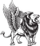 Illustrazione di vettore del modello senza cuciture del leone illustrazione di stock