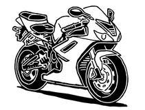 Illustrazione di vettore del motociclo di sport Fotografie Stock