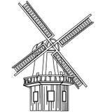 Illustrazione di vettore del mulino a vento dai crafteroks illustrazione di stock