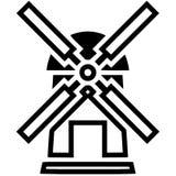 Illustrazione di vettore del mulino a vento dai crafteroks illustrazione vettoriale