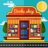 Illustrazione di vettore del negozio di libro Fotografia Stock Libera da Diritti
