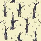 Illustrazione di vettore del ninja nella foresta Fotografia Stock Libera da Diritti