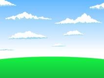 Illustrazione di vettore del paesaggio Fotografie Stock Libere da Diritti