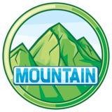 Illustrazione di vettore del paesaggio della montagna Fotografia Stock
