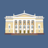 Illustrazione di vettore del palazzo d'annata Immagini Stock Libere da Diritti