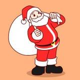 Illustrazione di vettore del personaggio dei cartoni animati di Santa Claus Fotografie Stock Libere da Diritti