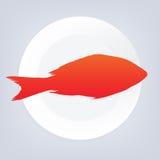 Illustrazione di vettore del pesce Fotografia Stock Libera da Diritti