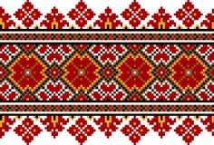 Illustrazione di vettore del picchiettio senza cuciture piega ucraino Immagine Stock