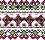 Illustrazione di vettore del picchiettio senza cuciture piega ucraino Immagini Stock