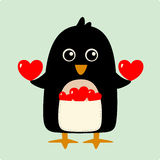Illustrazione di vettore del pinguino Fotografia Stock