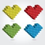 Illustrazione di vettore del pixel 3D per progettazione Fotografia Stock