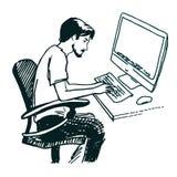 Illustrazione di vettore del programmatore Fotografie Stock