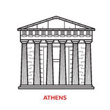 Illustrazione di vettore del punto di riferimento di Atene royalty illustrazione gratis