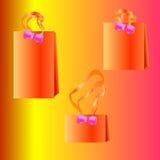 Illustrazione di vettore del sacchetto di acquisto di carta Nessun acetato Immagine Stock
