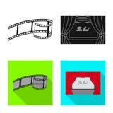 Illustrazione di vettore del segno di contaminazione e della televisione Metta della televisione e del simbolo di riserva d'esame illustrazione vettoriale