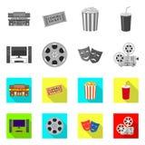 Illustrazione di vettore del simbolo di contaminazione e della televisione Metta della televisione e dell'icona d'esame di vettor illustrazione vettoriale