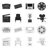 Illustrazione di vettore del simbolo di contaminazione e della televisione Metta della televisione e dell'icona d'esame di vettor illustrazione di stock