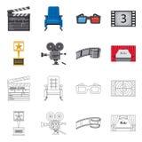 Illustrazione di vettore del simbolo di contaminazione e della televisione Raccolta della televisione ed icona d'esame di vettore illustrazione vettoriale