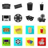 Illustrazione di vettore del simbolo di contaminazione e della televisione Raccolta della televisione e del simbolo di riserva d' royalty illustrazione gratis