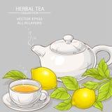 Illustrazione di vettore del tè del limone Fotografie Stock