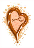 Illustrazione di vettore del telaio del cuore del cioccolato al latte Fotografia Stock