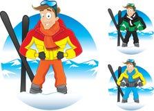 Illustrazione di vettore del tipo di inverno del fumetto Immagini Stock