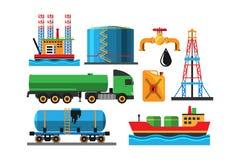 Illustrazione di vettore del trasporto di estrazione dell'olio Fotografia Stock Libera da Diritti