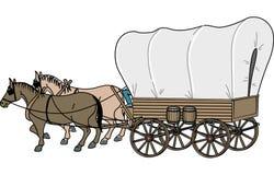 Illustrazione di vettore del vagone coperto illustrazione di stock