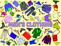 Illustrazione di vettore dell'abbigliamento degli uomini Immagine Stock Libera da Diritti